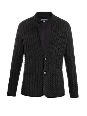 Cable-knit blazer