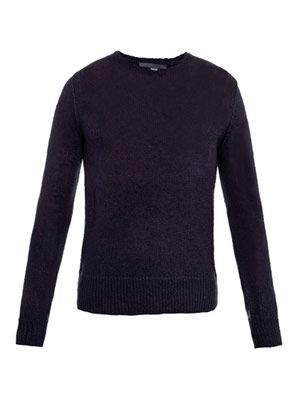 Linen-blend loose-knit sweater