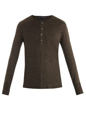 Linen Henley sweater