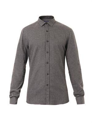 Brushed-cotton shirt