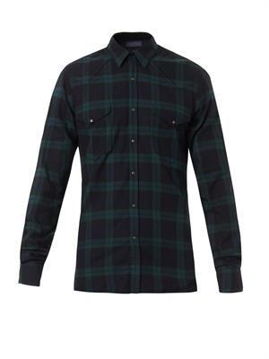 Western check-print shirt