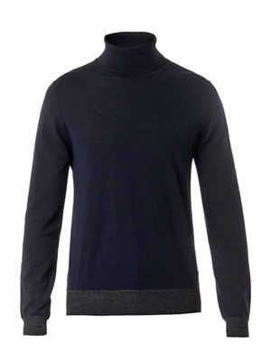 Tri-colour wool sweater