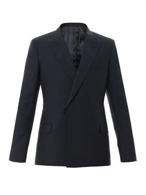 Double-breasted wool-mohair blazer
