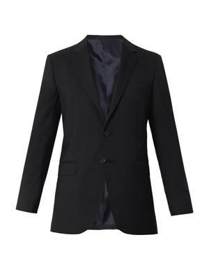 Attitude-fit wool blazer