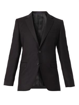 Attitude-fit wool-blend blazer