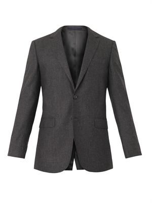 Attitude-fit wool blazer