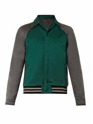 LANVIN Bi-colour bomber jacket