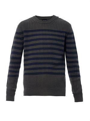 Crew-neck stripe sweater