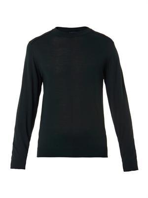 Crew-neck merino wool sweater