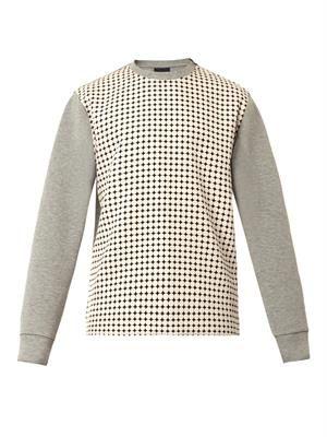 Circle-print jersey sweatshirt