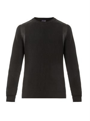 Contrast-shoulder sweater
