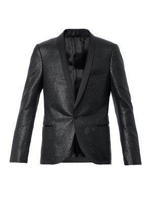 Metallic dinner jacket