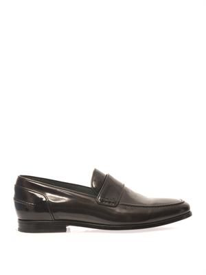Spazzolato leather loafers