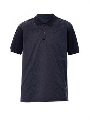 Animal-print polo shirt