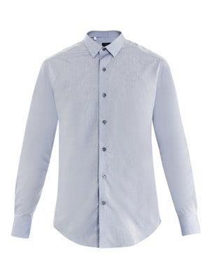 Fil-a-fil cotton shirt