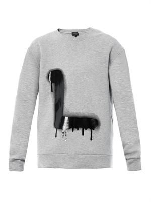 Graffiti L-print sweatshirt