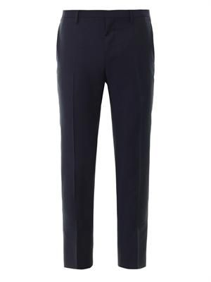 Flat-front tailored trousers