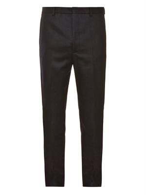 Slim-leg wool trousers
