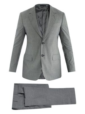 Attitude micro-check single-breasted suit