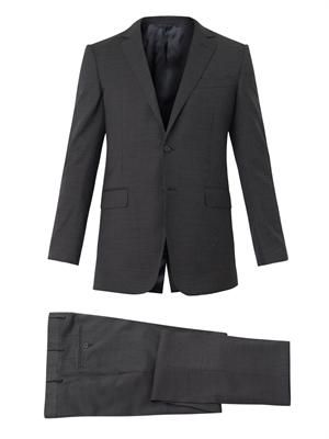 Attitude-fit wool suit