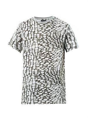 Abstract animal-print T-shirt