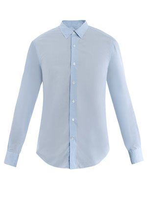 Washed-cotton shirt