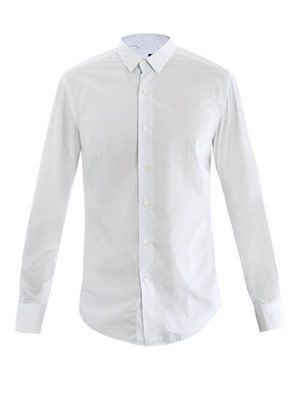 Washed cotton stripe shirt