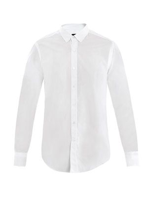 Raw collar shirt
