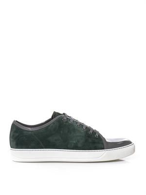 Suede and patent-leather trainers