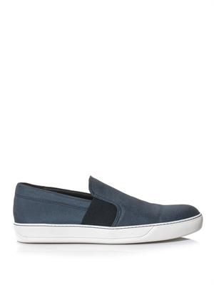 Canvas slip-on trainers