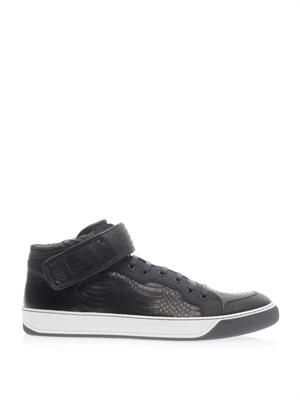 Water snake mid-top trainers