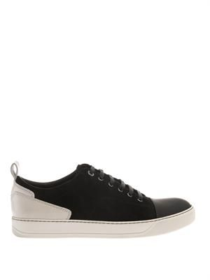 Suede and rubber trainers