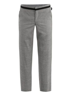 Grosgrain trim trousers