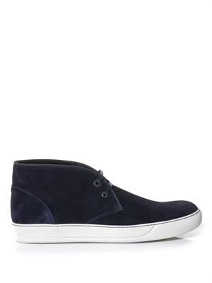 Suede desert boot trainers