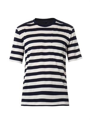 Short-sleeved striped T-shirt