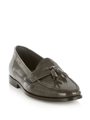 Patent loafer shoes