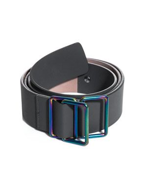 Rubber leather belt