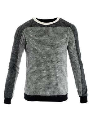 Micro-weave long sleeve top