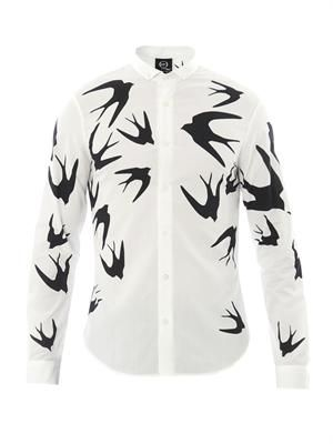 Swallow-print shirt