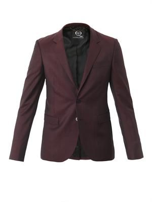 Cool wool two button notch lapel jacket