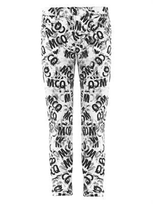 McQ-taped printed skinny jeans