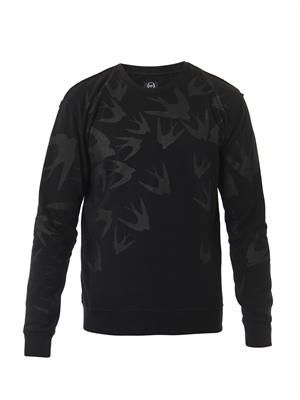 Swallow-print sweatshirt