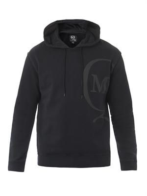Off-centre logo hooded sweatshirt