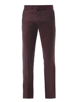 Cool wool slim tailored trousers
