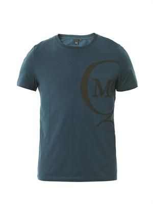 Off-centre logo-print T-shirt