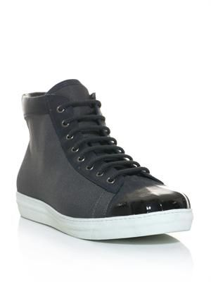 Shell toe high-top trainers