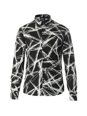 Scratch-print cotton shirt