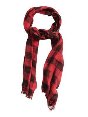 Graffiti Lumberjack cotton scarf