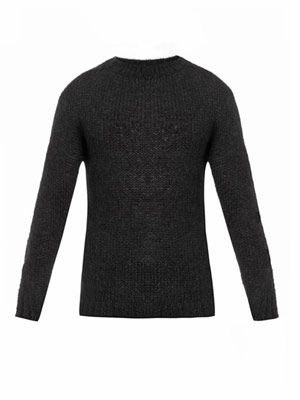 Crew-neck mohair-blend sweater