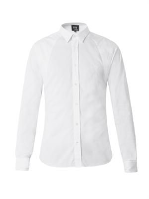 Harness stretch-cotton shirt